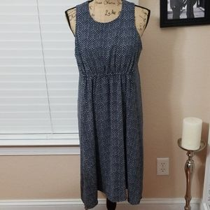 GAP white blue lined dress size small